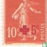 Rode Kruis, met opdruk