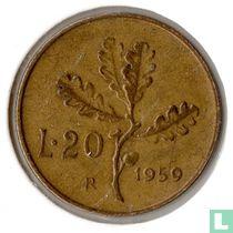 Italië 20 lire 1959