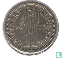 Zuid-Rhodesië 3 pence 1947