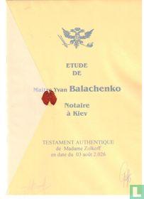 Testament authentique de Madame Zolkoff