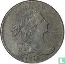 """Verenigde Staten 1 cent 1803 """"Large date, small fraction"""""""