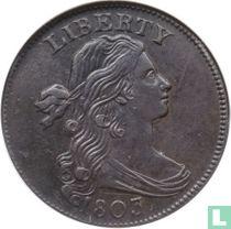 Verenigde Staten 1 cent 1803 1/100 over 1/000
