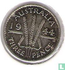Australië 3 pence 1944 (S)
