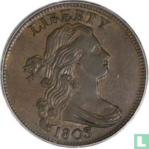 """Verenigde Staten 1 cent 1803 """"Small date, large fraction"""""""