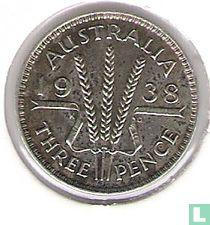 Australië 3 pence 1938