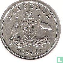 Australië 6 pence 1943 (S)