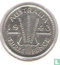 Australië 3 pence 1943 (Geen muntteken)
