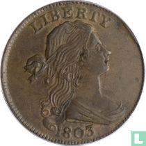 """Verenigde Staten 1 cent 1803 """"Stemless wreath"""""""