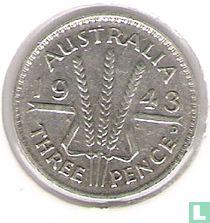Australië 3 pence 1943 (D)