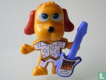 Hund mit Gitarre