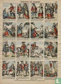 Antieke centsprent # 24 Genevieve of Brabant