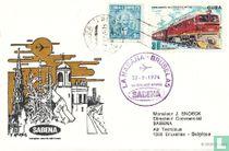 1. Flug Sabena Brüssel-Havanna