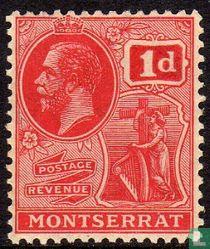 Koning George V met koloniesymbool