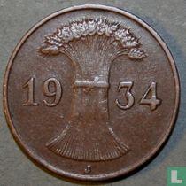 Duitse Rijk 1 reichspfennig 1934 (J)