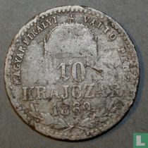 Hongarije 10 krajczar 1869 (GYF)