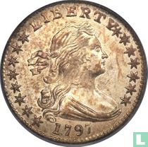 United States ½ dime 1797 (15 stars)