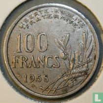 Frankrijk 100 francs 1958 (zonder B - vleugel)