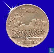 Italië 20 lire 1936