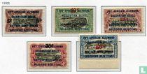 """Opdrukken """"Van Mechelen"""" - Postzegels van 1916"""