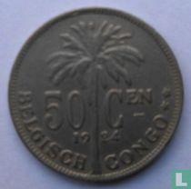 Belgisch-Kongo 50 centimes 1924 (NLD)