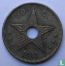 Belgian Congo 20 centimes 1911