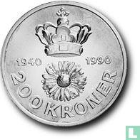 "Denemarken 200 kroner 1990 ""50th Birthday Queen Margarethe II"""