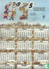 Een zeer gelukkig Nieuwjaar 1985 wordt u gewenst door de Uitgeverij Dupuis n.v.