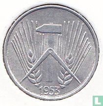 DDR 1 pfennig 1953 (A)