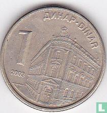Servië 1 dinar 2003