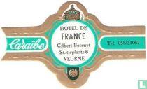 Hotel de France Gilbert Bossuyt Statieplaats 6 Veurne - Caraïbe - Tel. 058/31067