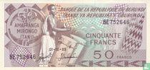 Burundi 50 Francs 1989