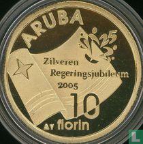 """Aruba 10 florin 2005 (PROOF) """"25 years Reign of Queen Beatrix"""""""