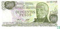Argentinië 500 Pesos 1977