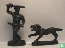 Gallier  Ensifer met hond