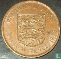 Jersey 2 new pence 1975