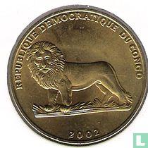 "Congo-Kinshasa 1 franc 2002 ""Turtle"""