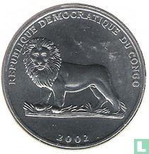 """Congo-Kinshasa 50 centimes 2002 """"Football"""""""