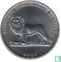 "Congo-Kinshasa 50 centimes 2002 ""Giraffe - FAO - 21st century food security"""
