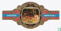 Groep rijtuigen. 19e eeuw