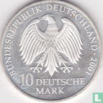 """Duitsland 10 mark 2001 """"Stralsund - 750 years Katharinenkloster - 50 years naval museum"""""""