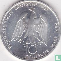 "Duitsland 10 mark 1999 ""250th anniversary Birth of Johann Wolfgang von Goethe"""