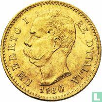Italië 20 lire 1880