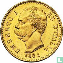 Italië 20 lire 1881