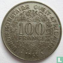 West-Afrikaanse Staten 100 francs 1968
