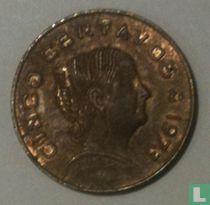 Mexico 5 centavos 1973 (flat top 3)