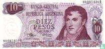 Argentinië 10 Pesos 1970