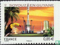 Soyouz rocket launch in Guyana