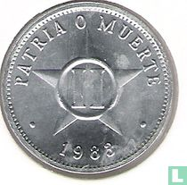 Cuba 2 centavos 1983 (grote letters)