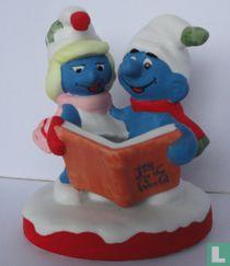 Kerstzangers Smurf & Smurfin