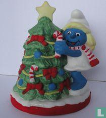 Smurfin met kerstboom